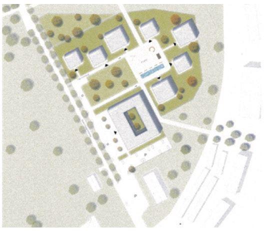 Ursprüngliche Planskizze zum Bauprojekt am Schlosspark Bochum