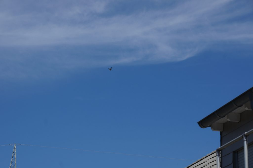 Drohne über der Schloßstr. in Bochum