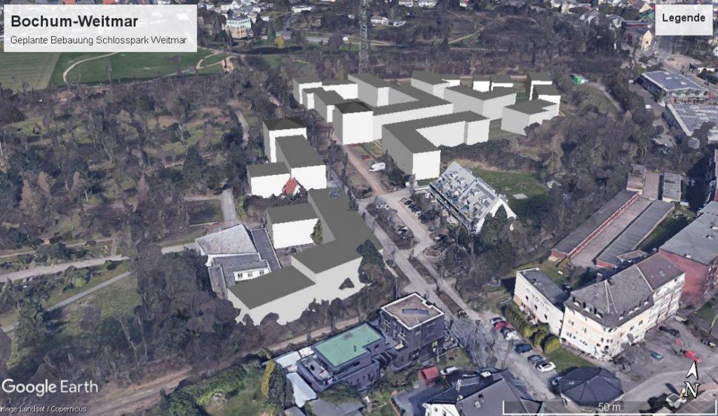 3D-Modell des Baukonzeptes am Schlosspark Bochum