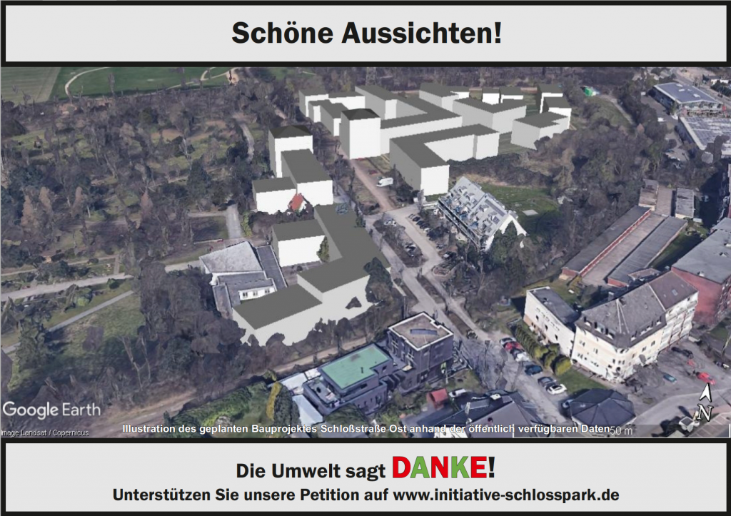 Illustration des geplanten Bauprojekte am Schlosspark Bochum